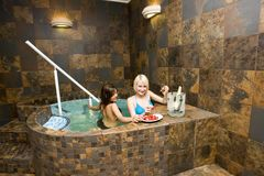 Women in hot tub Stock Photography