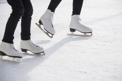 Free Women Ice Skating On Ice Rink Royalty Free Stock Photography - 132684127