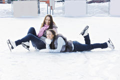 Women on ice Stock Images
