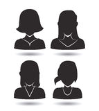 Women icon Stock Photography