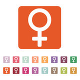 The women icon. Female symbol. Flat Royalty Free Stock Photos