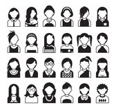 Women icon. Twenty four set of style women icon Stock Images