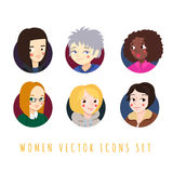 Women Icons Cartoon Style Vector Set Royalty Free Stock Images