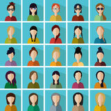 Women icons Stock Photography