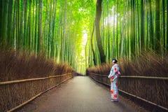 Free Women In Kimono At Bamboo Forest Of Arashiyama Royalty Free Stock Photos - 95568838