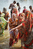 women of India enjoying water Royalty Free Stock Photo