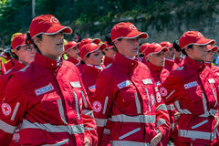 Women of the Italian Red Cross troops royalty free stock photography