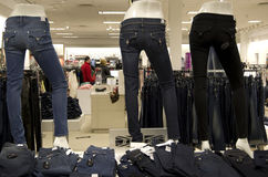 Women jean fashion store Royalty Free Stock Images