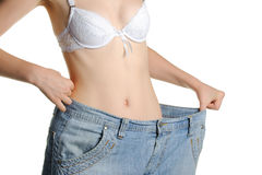 Women and jeans of the greater size Royalty Free Stock Photos