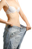 Women and jeans of the greater size Royalty Free Stock Image