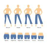 Women Jeans Types Set Royalty Free Stock Photos