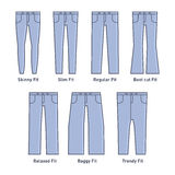 Women Jeans Types Set Stock Photography