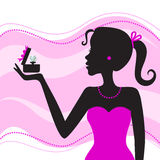 Women with jewelry royalty free illustration