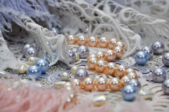 For women. Jewelry for evening attire and casual clothing Royalty Free Stock Photography