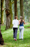 Women jogging outdoors Royalty Free Stock Photography
