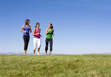 Women Jogging Together royalty free stock photography