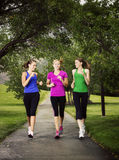 Women Jogging Together royalty free stock images