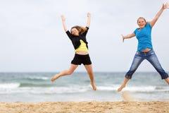 Women jump Royalty Free Stock Image