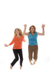Women jumping Stock Image
