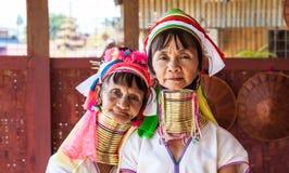 Women from Kayan tribe at Inle Lake Stock Image