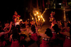 Women Kecak Fire Dance Royalty Free Stock Photography
