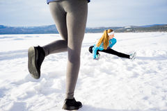 Women keeping fit Royalty Free Stock Photography