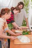 Women on kitchen. Royalty Free Stock Photo