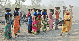Women Labour in India Royalty Free Stock Images