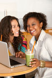 Women on a Laptop Royalty Free Stock Image