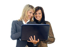 Women with a laptop Stock Photo