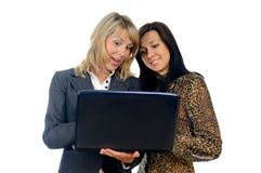 Women with a laptop Stock Image
