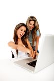 Women with laptop Royalty Free Stock Photo