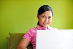 Women with laptop Royalty Free Stock Images