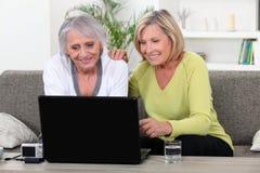 Women on laptop Royalty Free Stock Photo