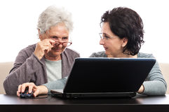 Women with laptop Royalty Free Stock Photography
