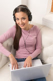 Women with laptop. Stock Images