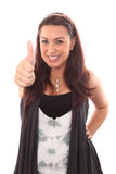 Women latin thumb up. Stock Image