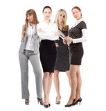Women leader of team isolated over white Royalty Free Stock Image