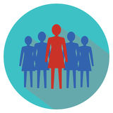 Women leadership concept. Women team. Stock Photo