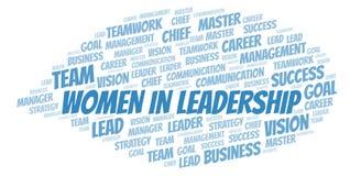 Women In Leadership word cloud royalty free illustration