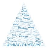 Women Leadership word cloud royalty free illustration
