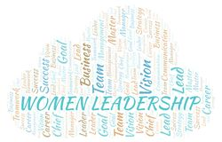 Women Leadership word cloud. Wordcloud made with text only vector illustration