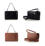 Women leather bags isolated on white background Stock Images