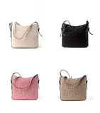 Women leather bags isolated on white background Stock Photos