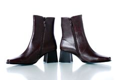 Women leather boots royalty free stock photography