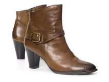 Women leather boots Stock Images