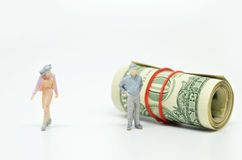 Women leaving a rich boyfriend. Royalty Free Stock Images