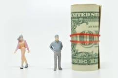 Women leaving a rich boyfriend. Royalty Free Stock Photo