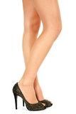 Women leg in shoes Stock Photography