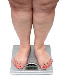 Women legs with overweight Royalty Free Stock Photos
